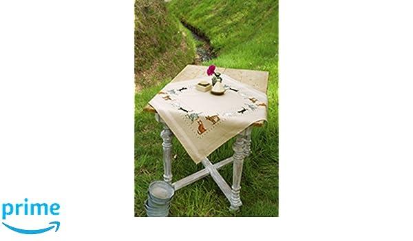 Mehrfarbig Vervaco Ethnisch Kreuzstichteppich//Stickteppich vorgedruckt 75 x 50 x 0.3 cm Baumwolle