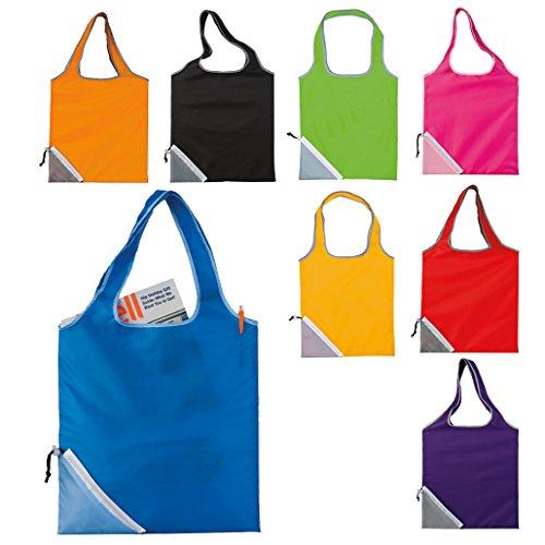 Acquisto pieghevole Grocery Bag Lightweight Nylon Tote Carry Shouder Supermercato (rosso) nero