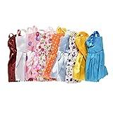 #10: Happu-store TM 10 Pcs Mni Dolls Party Dress Gown Party Clothes For Barbie