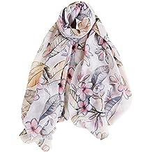 Aivtalk - Foulard Femme Soie Chic Impression Pofusion Fleurs Élégant  Respirant, Écharpe Satin Mode Doux 7c6e7d60d3d