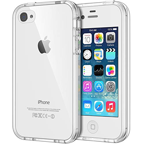 JETech Coque pour iPhone 4s et iPhone 4, Shock-Absorption et Anti-Rayures, Clair