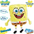 Light Up Talking Singing Laughing, Large Spongebob Plush Toy (Ultra Soft)