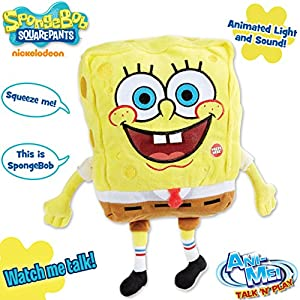 Light Up Talking Singing Laughing, Large Spongebob Plush Toy (Ultra Soft)