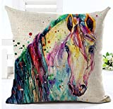 Cotton Linen Square Throw Pillow Case Decorative Cushion Cover Pillowcover for Sofa 18