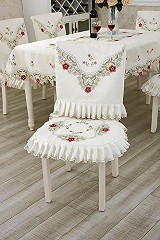 frische Satin Polyester klassische Tischdecke und Pad Sitz Rückenanzüge Platz und Runde mehr Größe , Pad Rückenlehne Anzüge