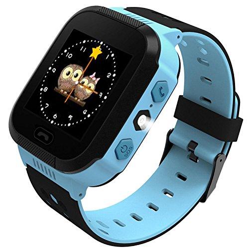 Kuerli Kinder Smart Watch Armbanduhr | Touchscreen, Live GPS, Telefon, Spiele, Wecker, SOS Notruf usw. | Geschenke für Mädchen Jungen Kinder