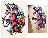 Temporäre Tattoos Temporary Tattoo Fake Tattoo -EINHORN BRILLE-