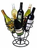 Oenophilia Bottle Bouquet Wine Rack, Bla...
