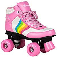 Rookie Roller Skates Forever Rainbow Thickness-Ska Pink Size 33 (UK 1)