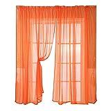Orientalisch Zuhause Hauptdekoration Transparenter Vorhang 1 * Gardinenstange Verarbeitung 200 cm x 100 cm (Orange) Schlafzimmer Wohnzimmer Hotel Vorhang ~ Coconano