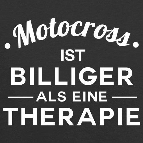 Motocross ist billiger als eine Therapie - Herren T-Shirt - 13 Farben Schwarz