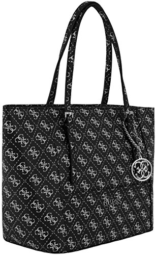 Sac shopping Guess porté main ou épaule de la collection Delaney pour femme Noir