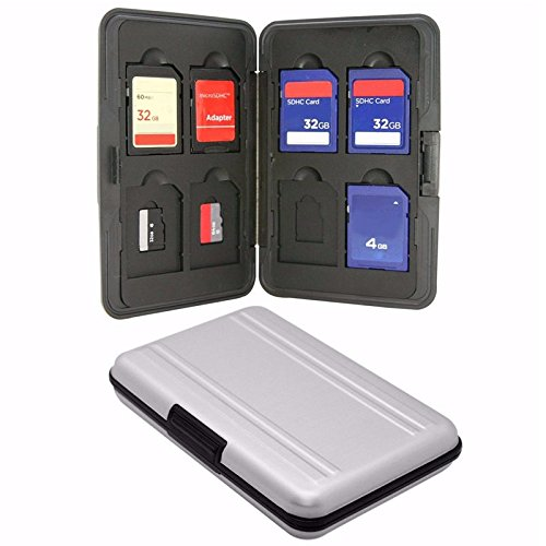 KRS - SD1 Aluminium Speicherkarten Schutzbox Micro SD SDHC Tasche Case Box Etui Hülle (Speicherkarte Hülle)
