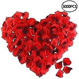 Rosenblätter, ETEREAUTY 3000 Stück Rosenblüten für Romantische Atmosphäre und Hochzeit Party Dekoration