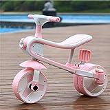 Cuicui Kinderwagen, High-End-Kinder Dreirad, Pedal, Dreirad, Fahrrad, Walker, Coole Musik, Musik, Dreirad, Fahrrad, Walker,Pink