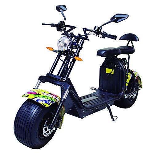 Moto eléctrica CityCoco Last Mille. 2000W/18.2aH (Doble Batería). Modelo Hip-Hop/Negro.