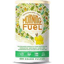 Morning Fuel   Frühstücksmischung mit Mikro- & Makronährstoffen   Quinoa, Chia, MCT Öl, Erbsenprotein, Hafer, Algen, Alfalfa, Spinat, Maca   Vitamine B6 + B12   600g Pulver mit Vanille