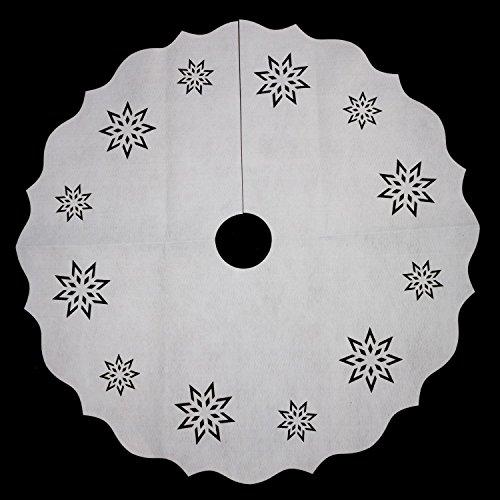 Féérie Lights & Christmas Tapis pour Sapin de Noël Neige - Diam. 90 cm - Blanc