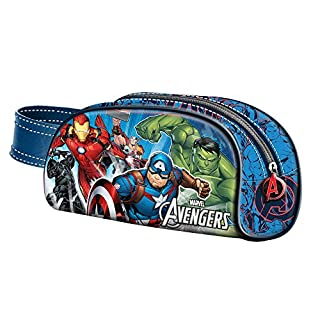 Karactermania The Avengers Powerful-Book Pencil Cases, 21 cm, Blue