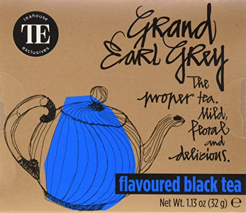 TE - Teahouse Exclusives Everyday Tea Grand Earl Grey 16 Beutel, 2er Pack (2 x 32 g)
