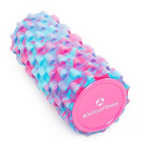 #DoYourFitness Faszienrolle ca. L 34 cm x D 14 cm   ideal zum Lösen von Verspannungen & Verklebungen des Fasziengewebes - mittelharte Schaumstoffrolle/Massagerolle/Fitnessrolle »Ishana« pink-hellblau (Roller Power Massage)