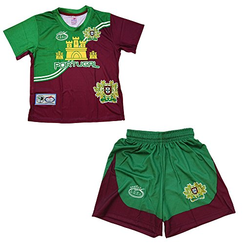 Portugal ARZA Youth Soccer Uniform, burgunderfarben - Youth Portugal Soccer Jersey