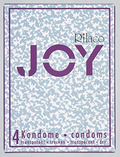 RILACO Kondome Joy (trocken) 4 Stück, 1er Pack (1 x 4 Stück)