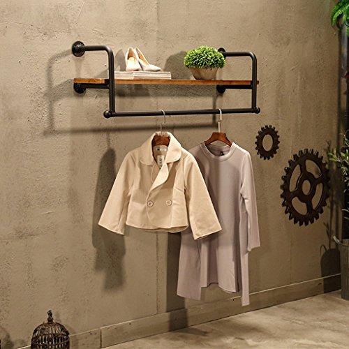 Vintage Eisen Kleiderständer massivem Holz Haken Wand Rack Kombination multifunktionale Kleidung Rack geeignet für Wohnzimmer/Schlafzimmer / Studie/Garderobe (80 cm, 100 cm, 120 cm, 150 cm) -