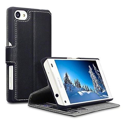 Sony Z5 Compact Accessoires, Terrapin Étui Housse en Cuir Ultra-mince