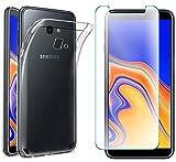 AOBOK [2 Stück], Hülle für Samsung Galaxy A70, Panzerglas für Samsung Galaxy A70, Transparent Weiche Silikon [ Ultradünnen ] Flexibel Bumper Handyhülle TPU Kratzfest Handy Schutzhülle