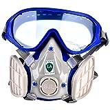 Silikon-Atemschutzmaske für vollen Atemschutzmaske Chemische Gasmaske Atemschutz gegen Staubpollen mit Schutzbrille