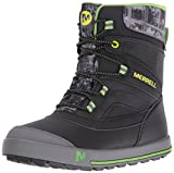Merrell Jungen ml-b Snow Bank 2.0 Waterpoof Trekking-& Wanderhalbschuhe, Schwarz (Black/Grey/Green), 35 EU