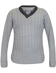 Nouveaux hommes tricots à manches longues col V tirer sur pull pull Casual hiver