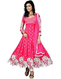 Prabhuta Enterpise New Salwar Suit For Women Pink Anarkali For Festival Offer Special Salwar Suit ,Discount Special...