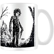 """Edward Scissorhands """"de tinta negra"""" taza de cerámica, Multi-color - Taza Eduardo Manostijeras entintado"""