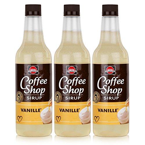 Schwartau Coffee Shop Sirup Vanille 650ml - Verfeinert ihren Kaffee (3er Pack)