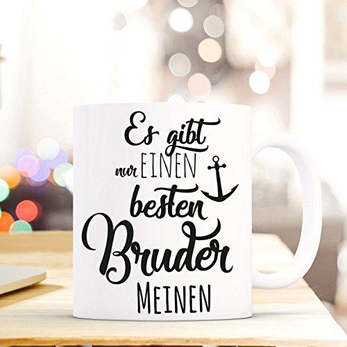 """Tasse Becher mit Spruch """"…bester Bruder"""" Geschenk Kaffeebecher Spruchtasse mit Motto Zitat in schwarz ts557b ilka parey wandtattoo-welt®"""