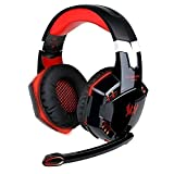Best Wireless Gaming Headset Xbox 360s - EasySMX ZJB-Headset02-Red Comfortable LED 3.5mm Stereo Gaming LED Review