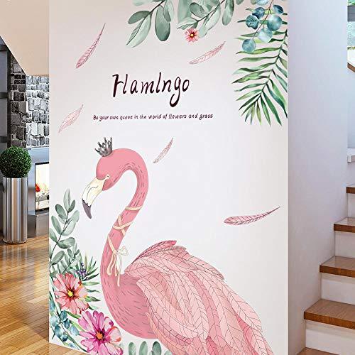 Wohnzimmer Traditionellen Sofa (Romantische Rosa Flamingo Wandaufkleber Diy Cartoon Tier Kinderzimmer Wohnzimmer Sofa Hintergrund Traditionellen Schlafzimmer Haus Dekoration 69X92 cm)