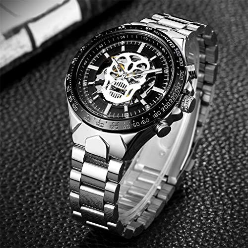 Hahuha , Watch Hollow Demon Dial Luxury Design Business Fashion Men's Mechanical Watch -