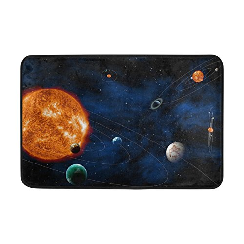jstel Nebel Universe Starry Solar System Night-Fußmatte waschbar Garten Büro Fußmatte, Küche ESS-Living Badezimmer Pet Eintrag Teppiche mit Rutschfeste Unterseite 59,9x (Halloween Nebel)