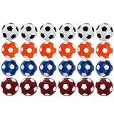 Croing (24 pcs Palloni da calcio da tavolo - Palloni da biliardino - Palline da gioco da tavolo colorate da 36 mm