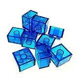 10 x Lego System Stein transparent dunkel blau 2 x 2 Baustein Basic (Glasstein) 3003