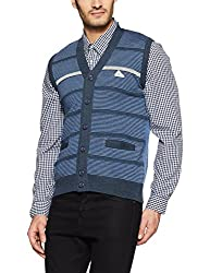 Monte Carlo Mens Wool Cardigan (1173253SC-1_Blue_38)