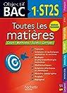 Objectif Bac Toutes les matières 1re ST2S par Hachette