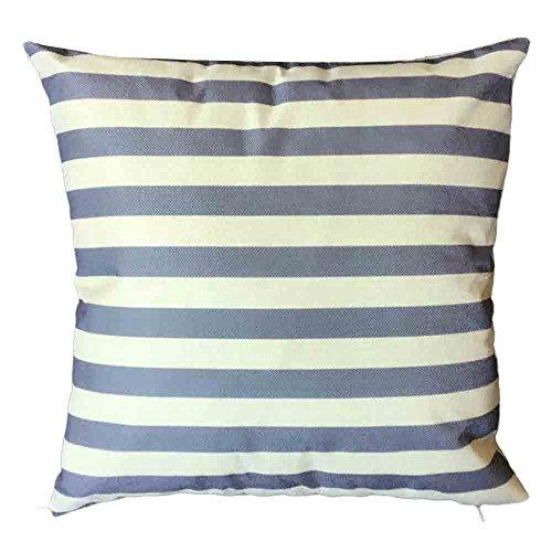 Shakke Streifen Baumwolle Leinen Kissenbezug Home Auto Bett -