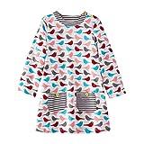 Mooler Mädchen Emboridery Cartoon Patch Baumwolle Kleid Sommer T-Shirt Kleid