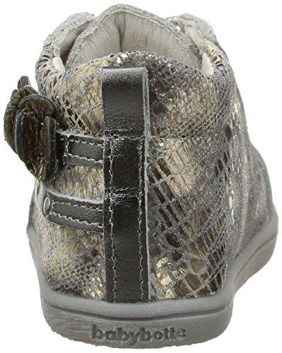 Babybotte Flory, Chaussures Bébé marche bébé fille Argent (115 Argent)