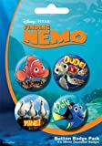 DISNEY FINDING NEMO - BADGE PACK - PACK OF 4 X 38MM BADGES - BRAND NEW