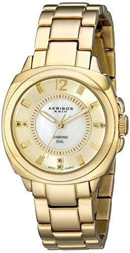 Akribos XXIV Femme Lady Diamond Doré Montre bracelet